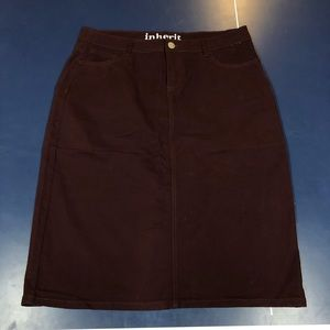 Inherit Remi Midi Skirt - Wine Color